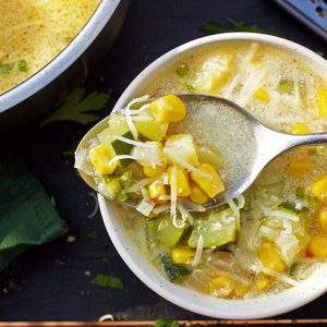 vegan Mexican Zucchini Soup supa mexicana cu dovlecel