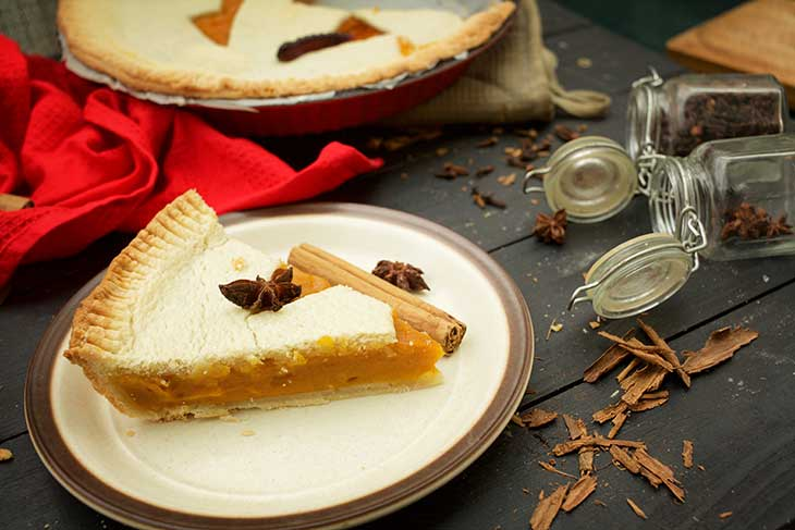 Haloween Pumpkin Pie slice