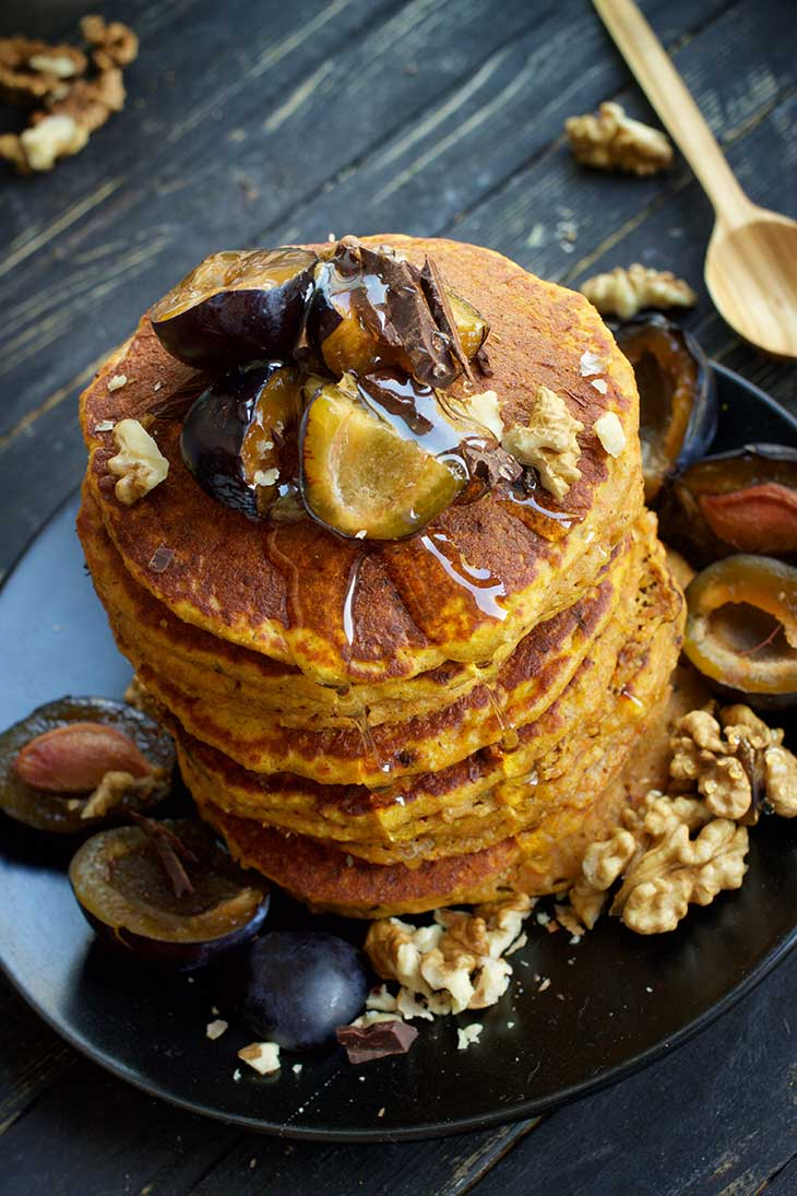 Healthy Vegan Sweet Potato Pancakes
