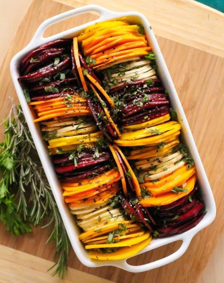 Fancy Shmancy Herb Roasted Root Vegetables