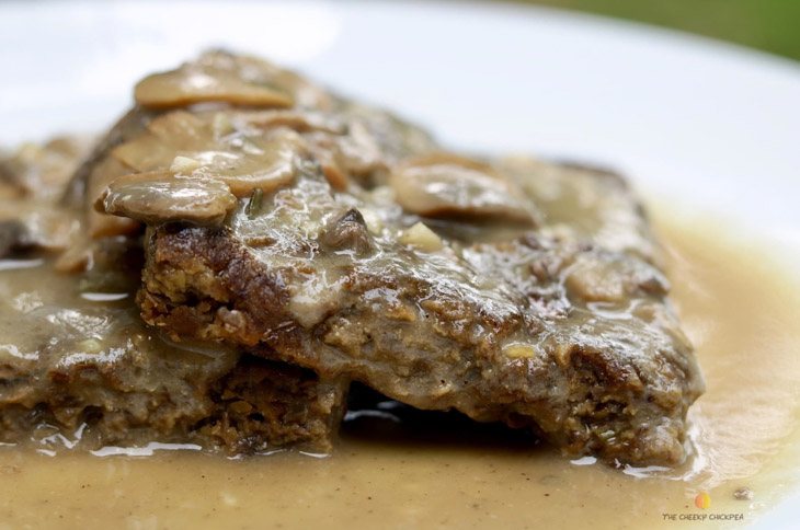 Vegetarian Salsbury Steak With Mushroom Gravy