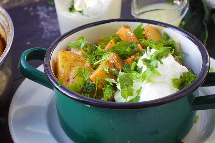 salata de cartofi vegetariana