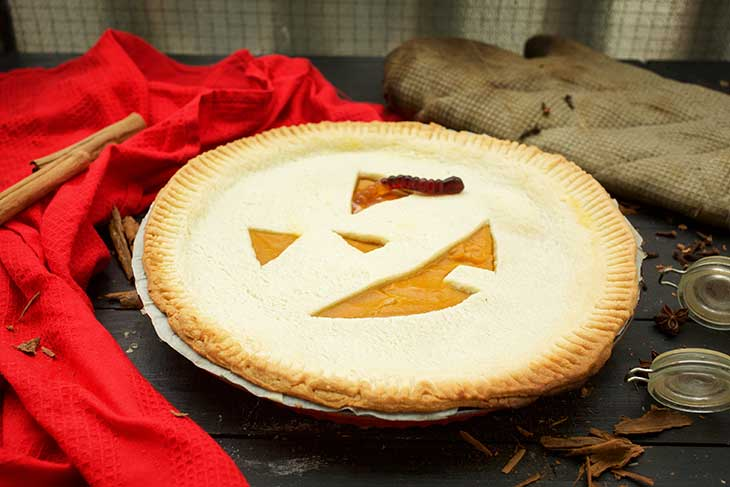 Vegan Haloween Pumpkin Pie