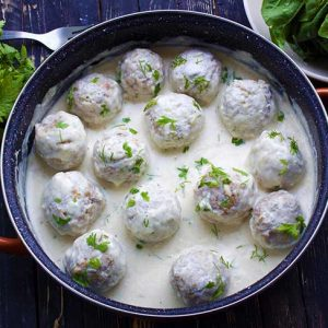 Vegan Swedish Meatballs chiftelute suedeze de post