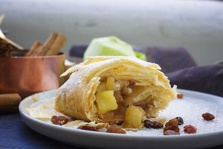 german Vegan Apple Strudel