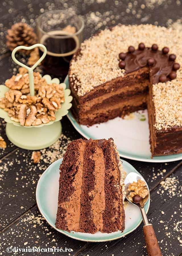 Tort De Ciocolata Cu Nuca Si Rom De Post