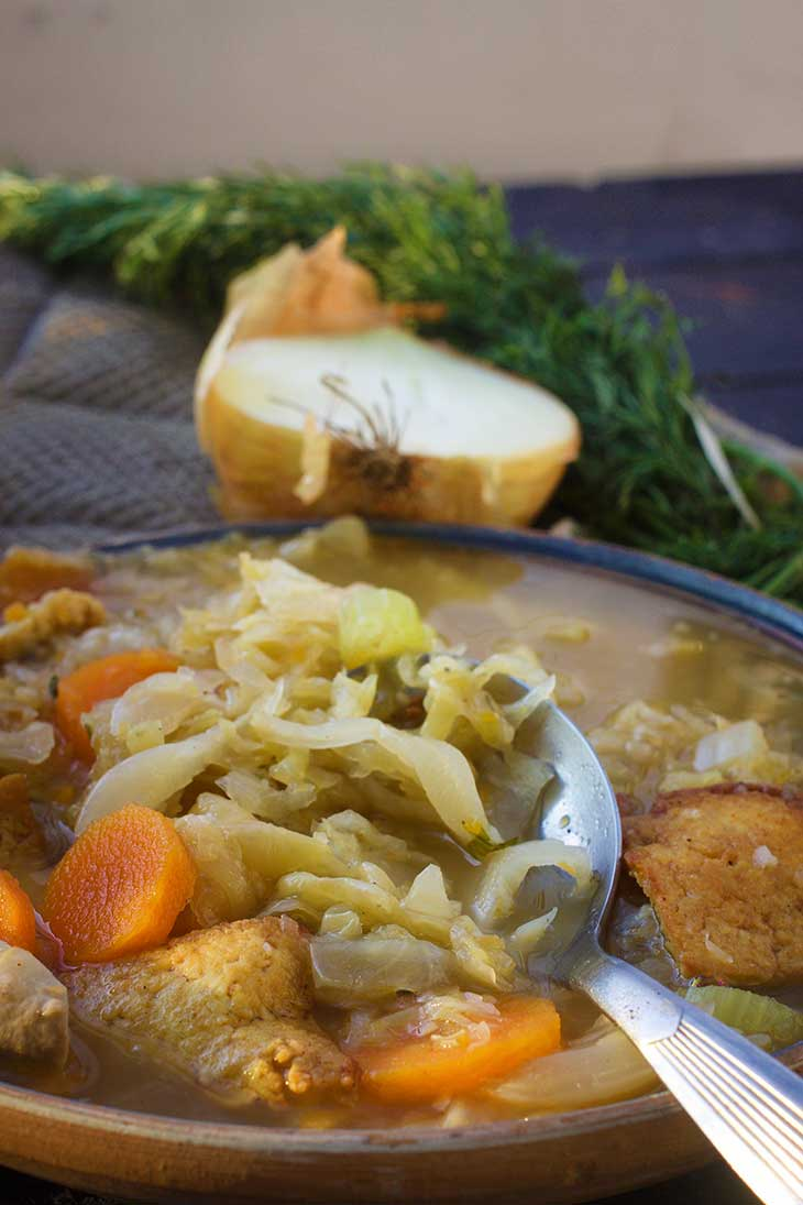 vegan german sauerkraut soup