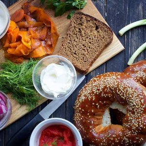 vegan salmon bagel recipe