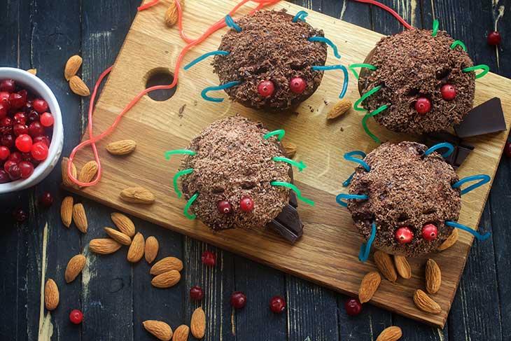 vegan spider cupcakes for Halloween