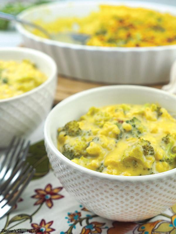 Vegan Broccoli and Rice Casserole