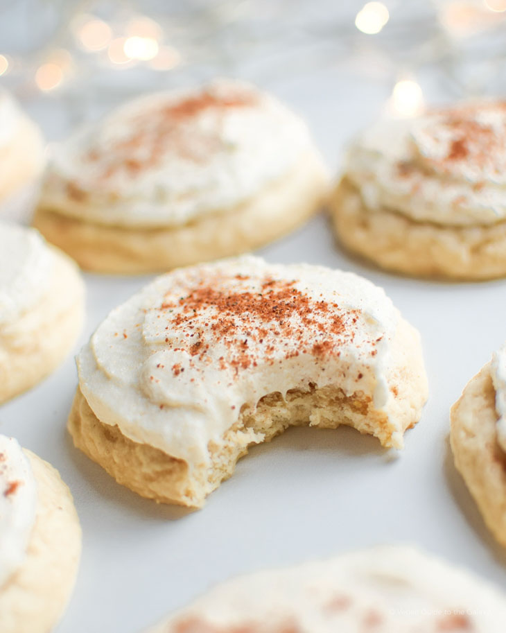 Fluffy Frosted Eggnog Sugar Cookies