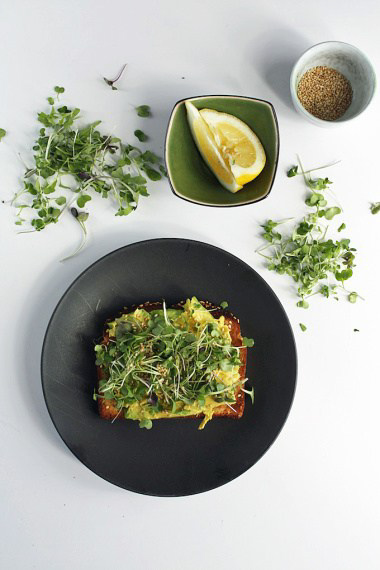 Avocado Toasts With Micro Green Sesame