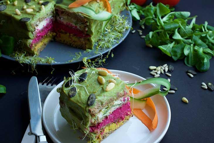 SMÖRGÅSTÅRTA Vegan Sandwich Cake appetizer