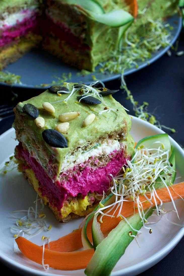 SMÖRGÅSTÅRTA Vegan Sandwich Cake recipe tort sandvis