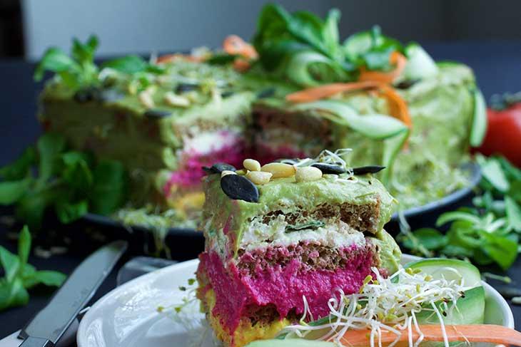 SMÖRGÅSTÅRTA Vegan Sandwich Cake savory recipe
