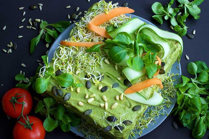 SMÖRGÅSTÅRTA Vegan Sandwich Cake tort sandvis
