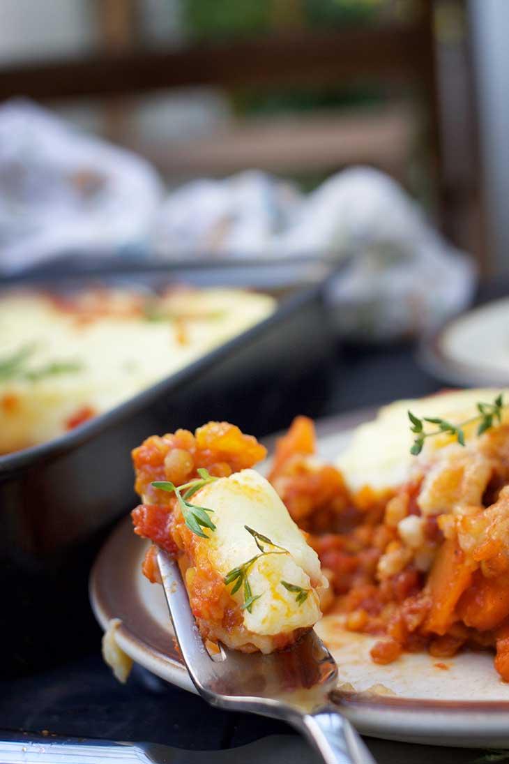 best vegetarian cottage pie lentil pie musaca de cartofi cu linte
