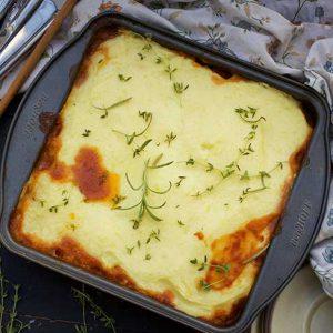 vegetarian cottage pie lentil pie musaca de cartofi cu linte