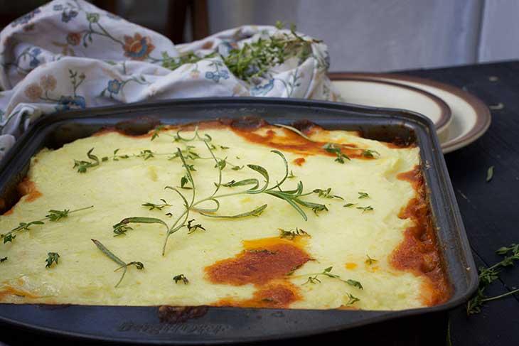 vegetarian cottage pie lentil pie