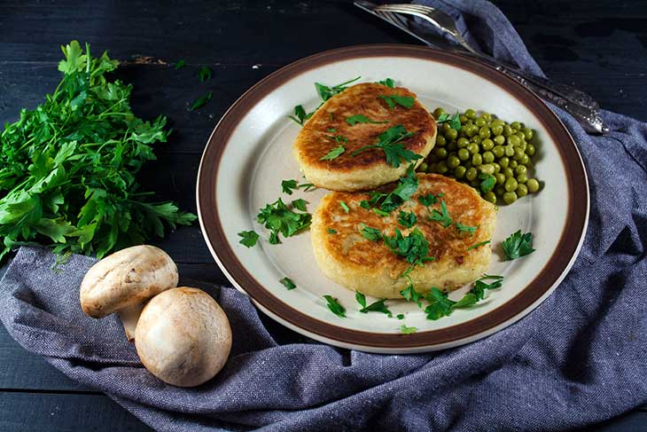 Potato cutlets mushroom stuffing recipe Draniki