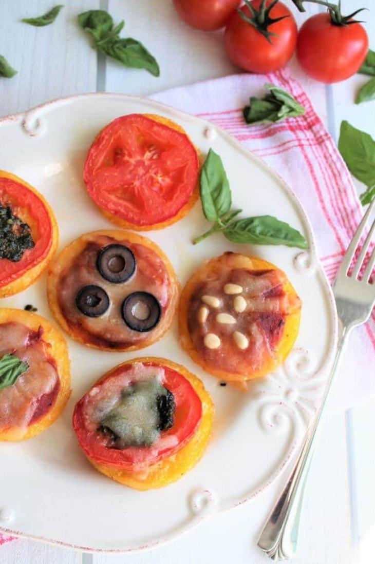 Vegan Polenta Pizza Bites