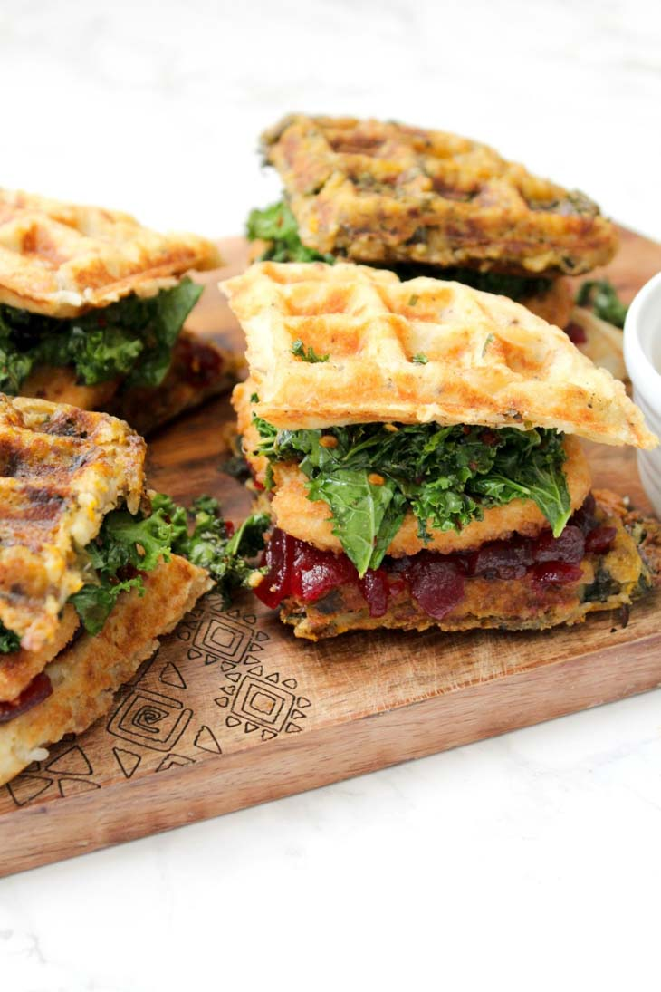 Vegan Thanksgiving Leftover Waffle Sandwiches