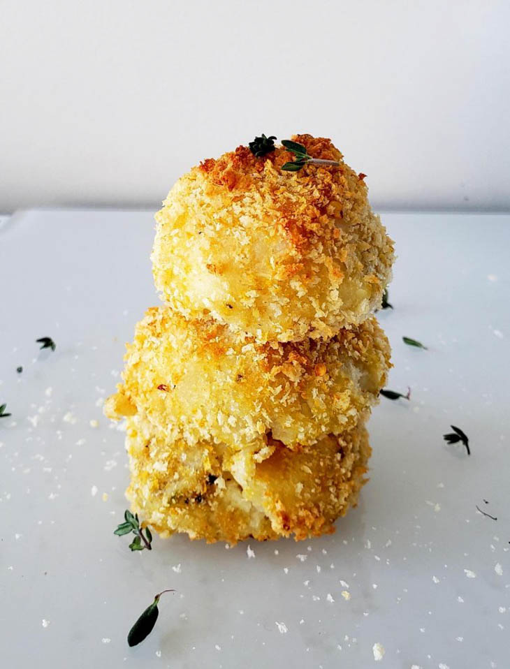 Vegan Baked Mashed Potato Balls