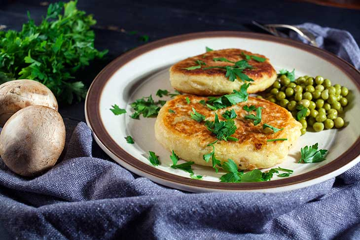 vegan Potato cutlets with mushroom recipe