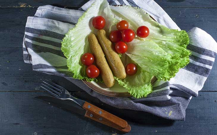 simple vegan sausages