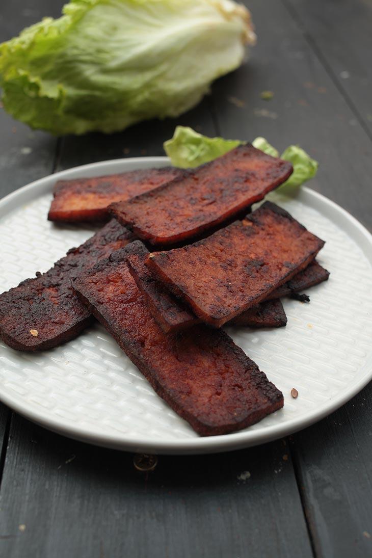 vegan tofu bacon