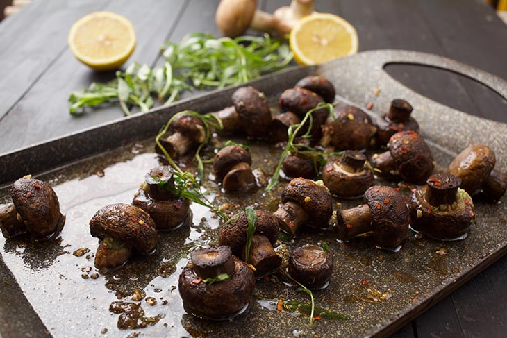 Perfect Roasted Garlic Mushrooms recipe ciuperci la cuptor