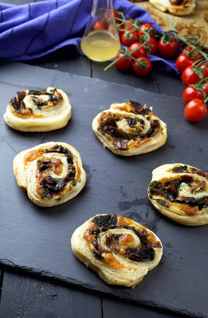 Vegan Mushroom Pinwheels appetizer