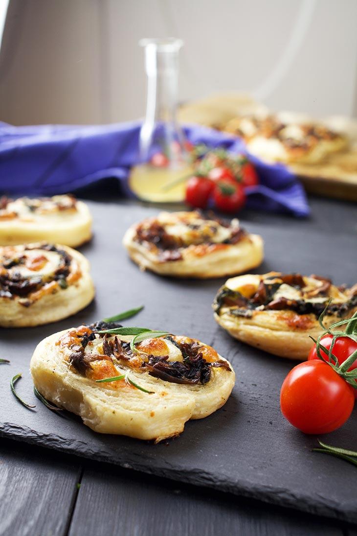 quick Vegan Mushroom Pinwheels