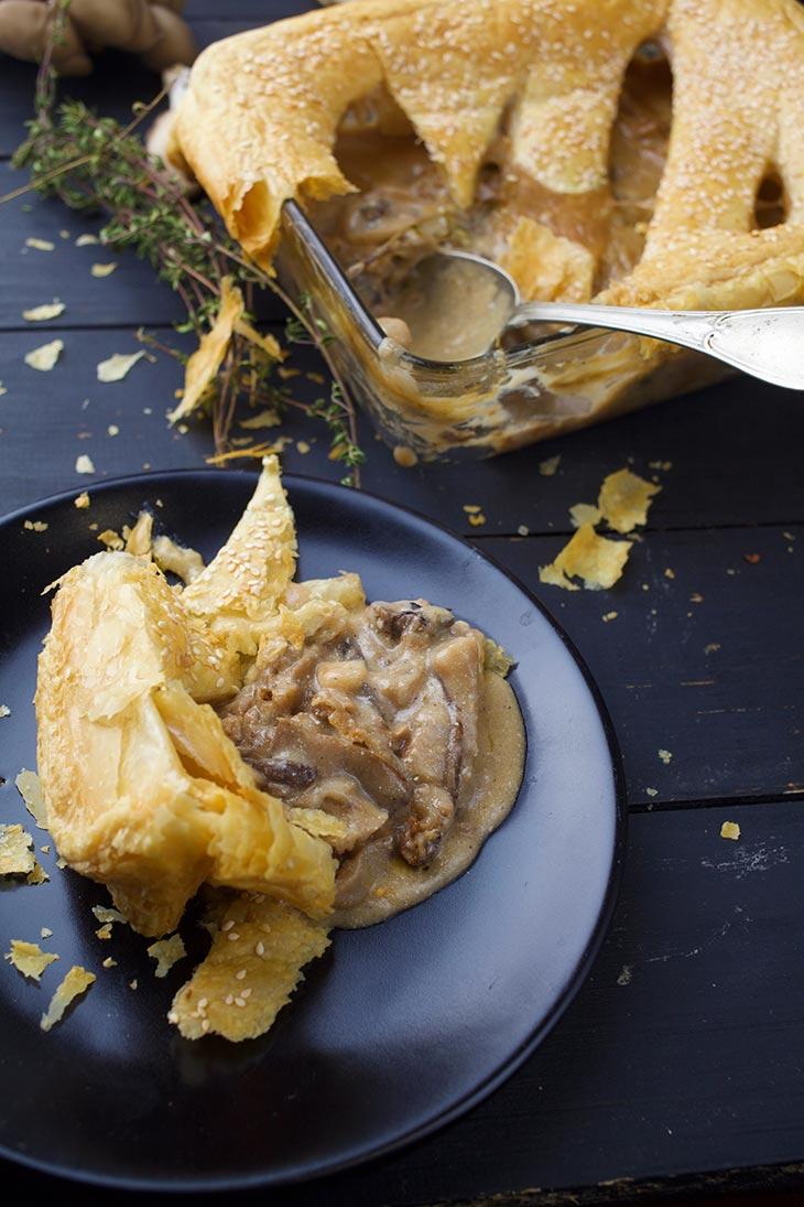 vegan Creamy Mushroom Pie