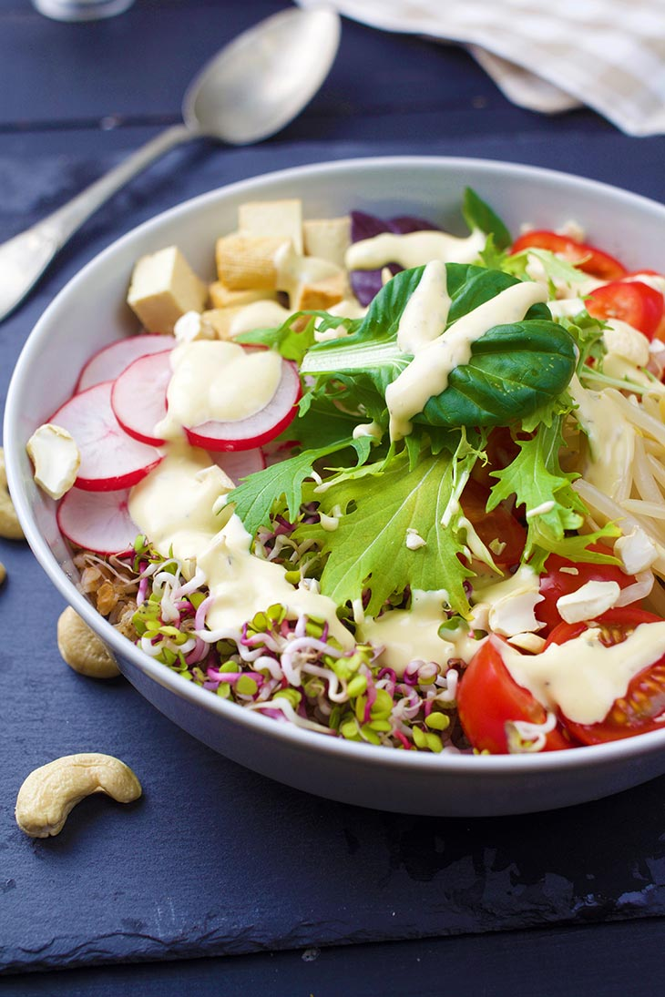 How to make a rainbow buddha bowl