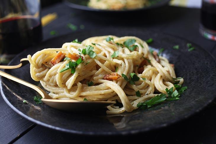 Vegan Carbonara pasta recipe