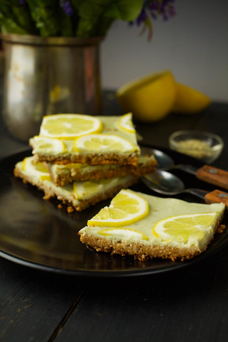 easy Vegan Lemon Bars dessert