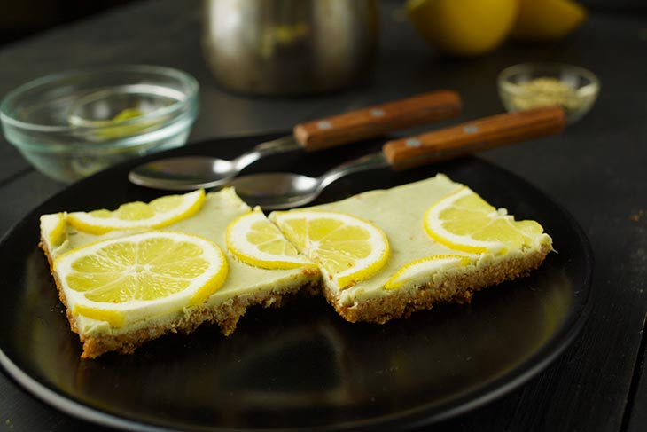 homemade Vegan Lemon Bars