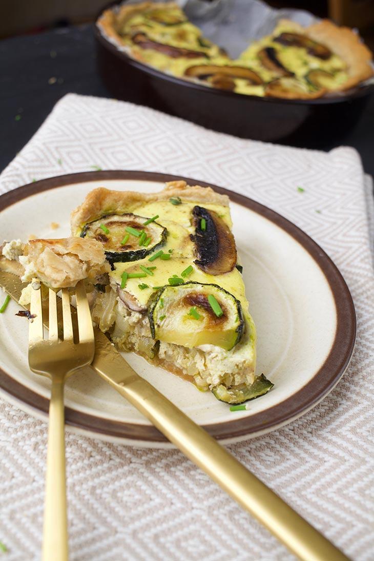 vegan mushroom tart