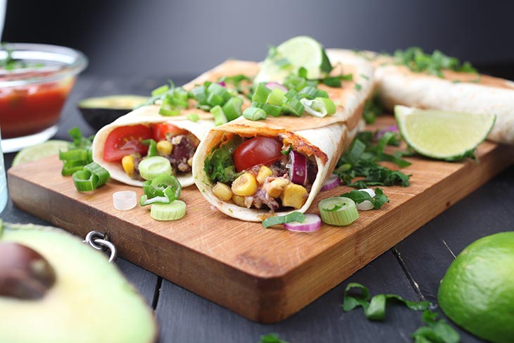 healthy vegan taquitos