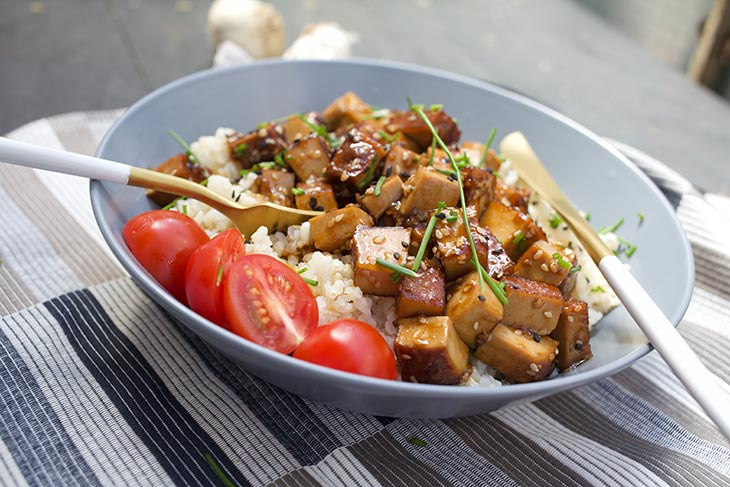 Asian Garlic Tofu recipe