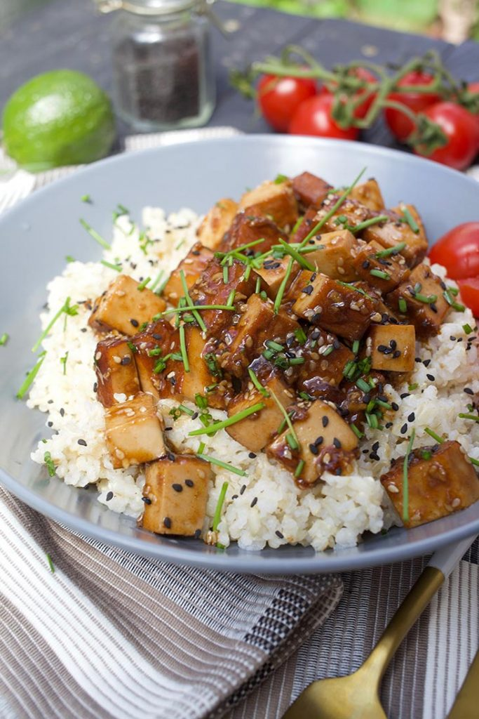Vegan Sticky Asian Garlic Tofu
