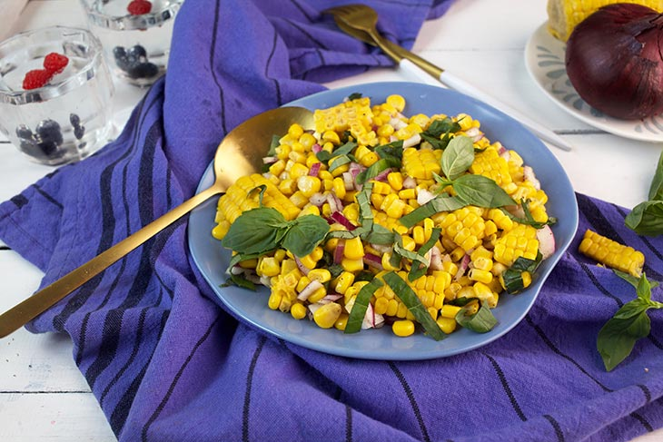 fresh corn salad corn on the cob