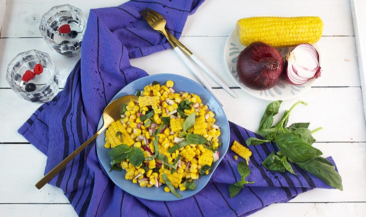 fresh corn salad salata de porumb fiert
