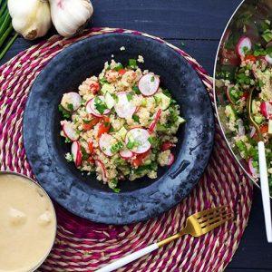 vegan quinoa salad salata cu quinoa