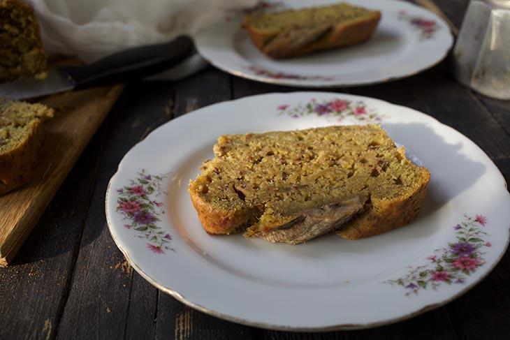 Vegan Banana Bread slice