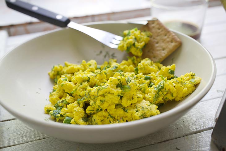 how to make Vegan Scrambled Eggs recipe