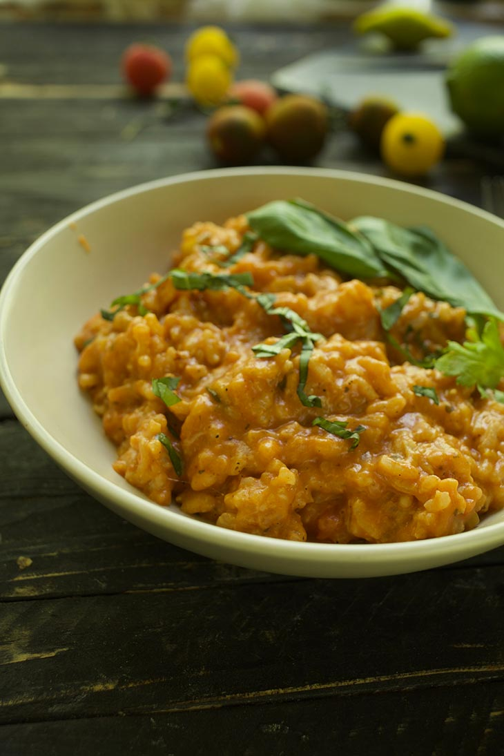 italian Vegan Roasted Tomato Risotto