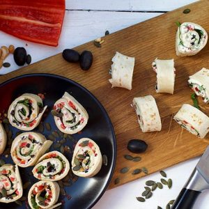 Healthy Vegan tortilla roll ups Rulouri din tortilla Rulouri aperitiv