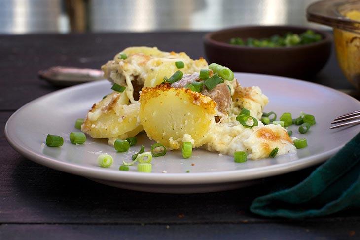 reteta caserola de chiftelute vegetale cu cartofi
